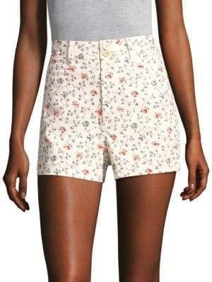 Rebecca Taylor Floral Vine Twill Shorts