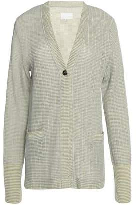 Maison Margiela Cotton And Linen-Blend Cardigan