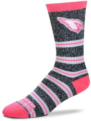 For Bare Feet Women's Arizona Cardinals Striped Crew Socks
