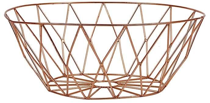 Bloomingville Round Metal Basket, Copper