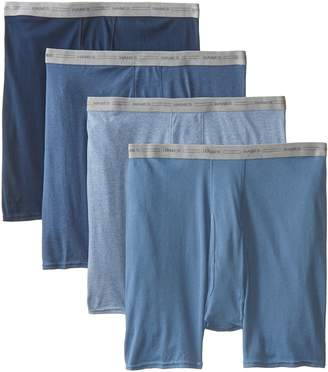 Hanes Men's Plus-Size 4-Pack Exposed Waistband Boxer Briefs