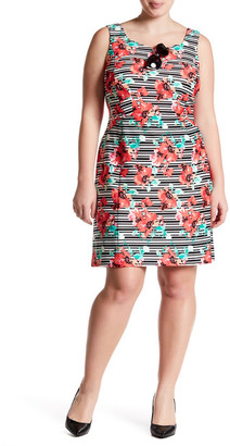 Adrianna Papell Printed Scuba A-Line Dress (Regular, Petite, & Plus Size) $140 thestylecure.com