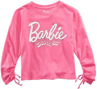 Barbie Big Girls Ruched-Sleeve Top