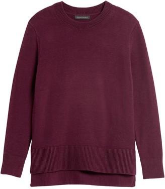 Banana Republic Super Soft Cotton Hi-Low Hem Sweater