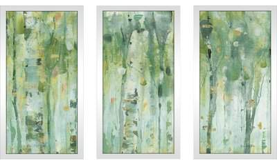 Wayfair 'The Forest III' Acrylic Painting Print Multi-Piece Image on Glass