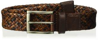 Tommy Bahama Men's 100% Leather Tricolored Braided Belt