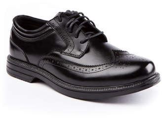 Deer Stags Men Nu Journal Waterproof Memory Foam Slip-Resistant Classic Wingtip Dress Comfort Oxford Men Shoes