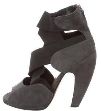 Alaà ̄a Suede Crossover Sandals Grey Alaà ̄a Suede Crossover Sandals