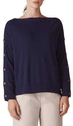 Whistles Button Sleeve Sweater
