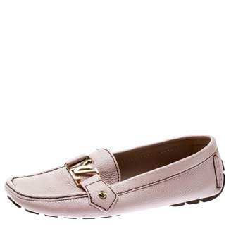 Louis Vuitton Pink Leather Flats