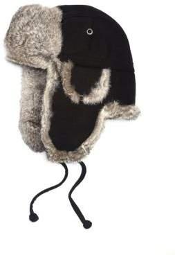Saks Fifth Avenue COLLECTION Rabbit-Fur Aviator Hat