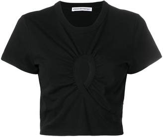 Alexander Wang cropped keyhole T-shirt