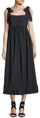 See by Chloe Sleeveless Tie-Shoulder A-Line Dress