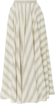 Blend of America Noon by Noor Luther Silk Striped Maxi Skirt