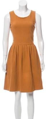 Ganni Textured Scoop Neck Dress
