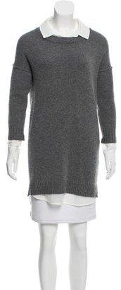 Brochu Walker Chiffon-Trimmed Wool Sweater $90 thestylecure.com