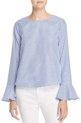 JOA Stripe Bell Sleeve Top - 100% Exclusive $78 thestylecure.com