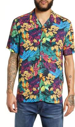 Topman Tropical Birds Classic Fit Shirt