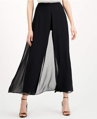 28th & Park Chiffon-Overlay Wide-Leg Pants