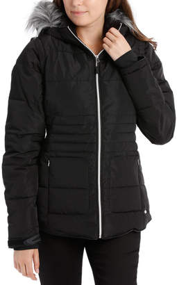 Reflect, 3 in 1 quilted water resistant jacket with removable sleeve to form vest and removable hood