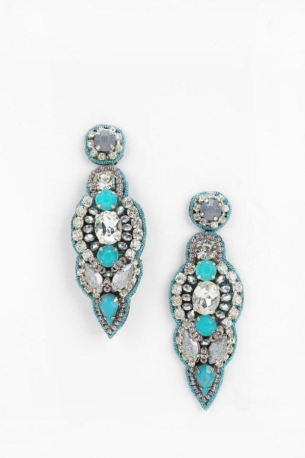 Deepa Gurnani Blue Point Drop Earring