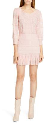 LoveShackFancy Cheri Eyelet Lace Dress