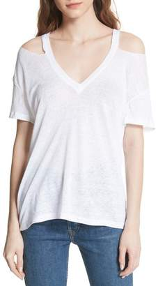 IRO Balria Cold Shoulder Linen Tee