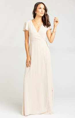 Show Me Your Mumu Noelle Wrap Dress ~ Show Me the Ring Crisp