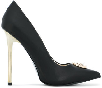 Versace Jeans pointed stiletto pumps $190.06 thestylecure.com
