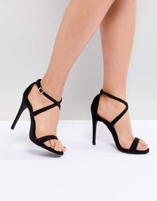 New Look Cross Strap Heeled Sandal