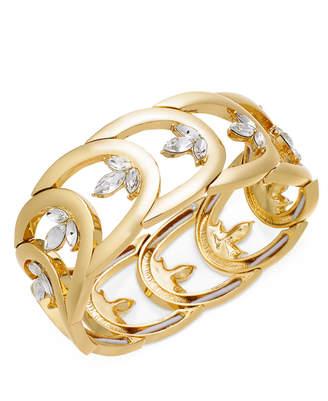INC International Concepts I.n.c. Gold-Tone Crystal Openwork Stretch Bracelet