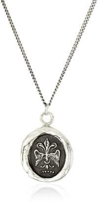 Pyrrha talisman Sterling Fleur De Lys Necklace