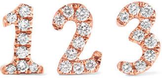 Anita Ko Number 18-karat Rose Gold Diamond Earring