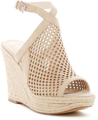 GUESS Helida Wedge Platform Sandal $99 thestylecure.com