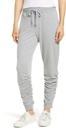 1 STATE 1.STATE Ruched Hem Brushed Jersey Jogger Pants