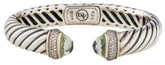 David Yurman Prasiolite & Diamond Waverly Cuff