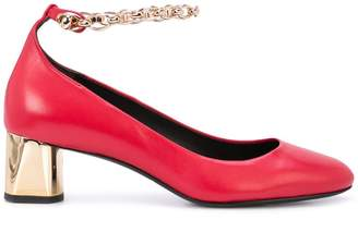 Stella Luna chain strap pumps