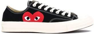 Comme des Garcons canvas heart print sneakers