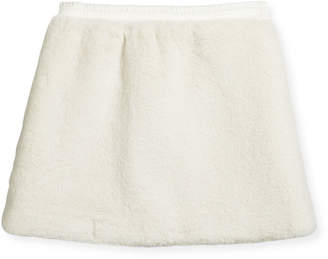 Moncler Faux Shearling A-Line Skirt, Size 4-6