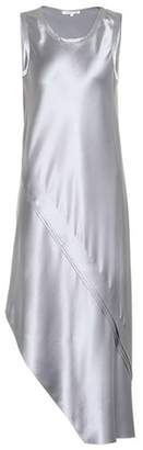 Helmut Lang Asymmetric silk-satin dress