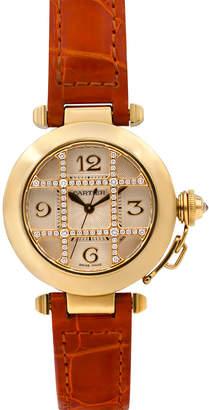 Cartier Pre-Owned 32mm 18k Pasha de Diamond Watch