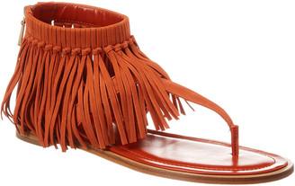 Tod's Fringed Leather Sandal
