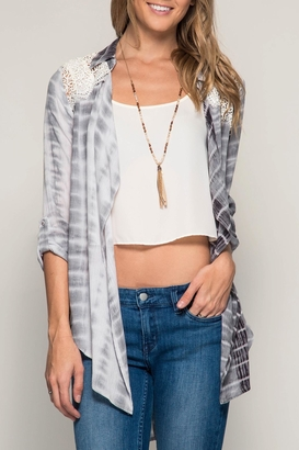 She + Sky Roll Up Sleeve Cardigan $39 thestylecure.com