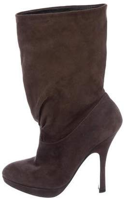 Prada Suede Pointed-Toe Boots