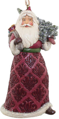 Jim Shore Victorian Santa With Bag Of Toys & Tree Hanging Ornament