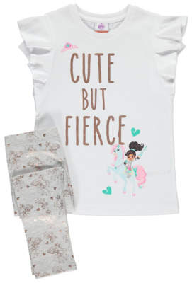 George Nella the Princess Knight Top and Leggings Outfit Set