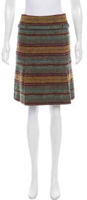 Akris Punto Striped Wool Skirt