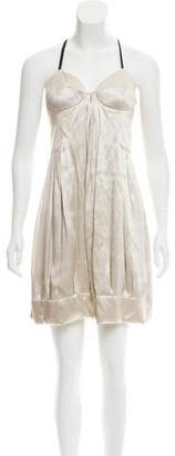 Miu Miu Silk Knee-Length Dress w/ Tags