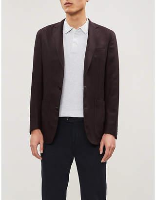 Brunello Cucinelli Stripe-trimmed cotton-piqué polo shirt