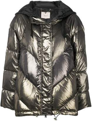 Twin-Set metallic puffer jacket